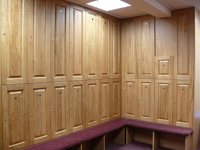 Quality Wooden Golf Club Lockers Fitted By Fitlockers